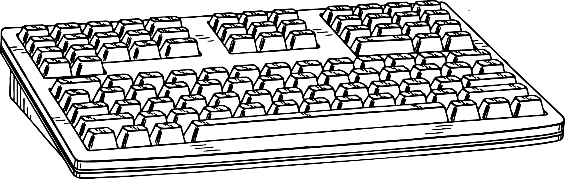 Piano Keyboard Clipart Free Clip art of Keyboard Clipart #7325.