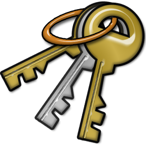 Full Version Of Key On A Keychain Clipart.