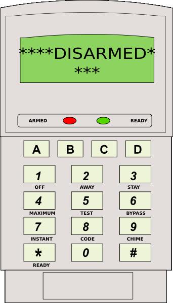 Security Alarm Keypad Clip Art at Clker.com.