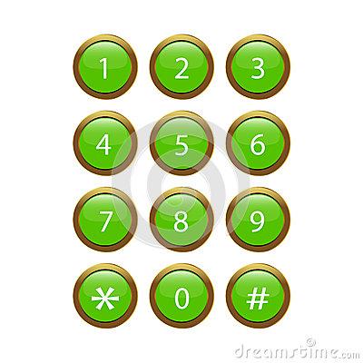 Cell Phone Keypad Clip Art.