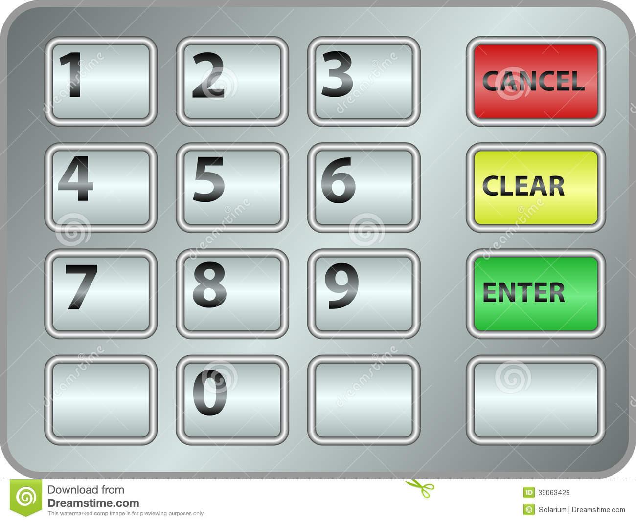 Telephone Keypad Clip Art.