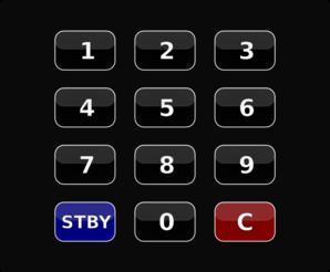Security keypad clipart.