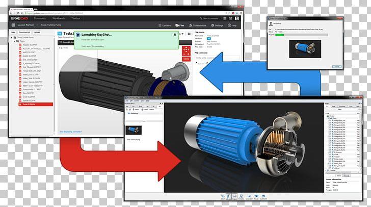 GrabCAD 3D Rendering Computer.