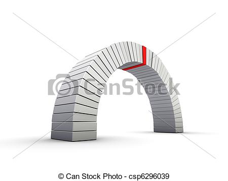 Stock Illustration of Gray arch.