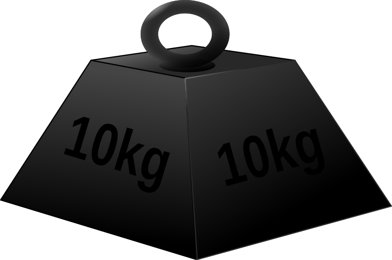 Free Clipart: 10 kg weight.