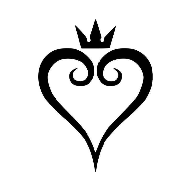 Kingdom Hearts Heart Vinyl Decal Sticker BallzBeatz . com.