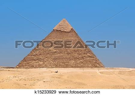 Stock Photograph of Pyramid of Khafre in Giza, Egypt k15233929.