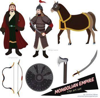 Genghis Khan Clipart.
