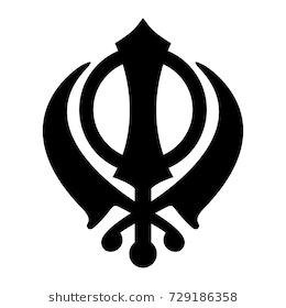 Khanda Sikh Icon Isolated On White Backg #14612.