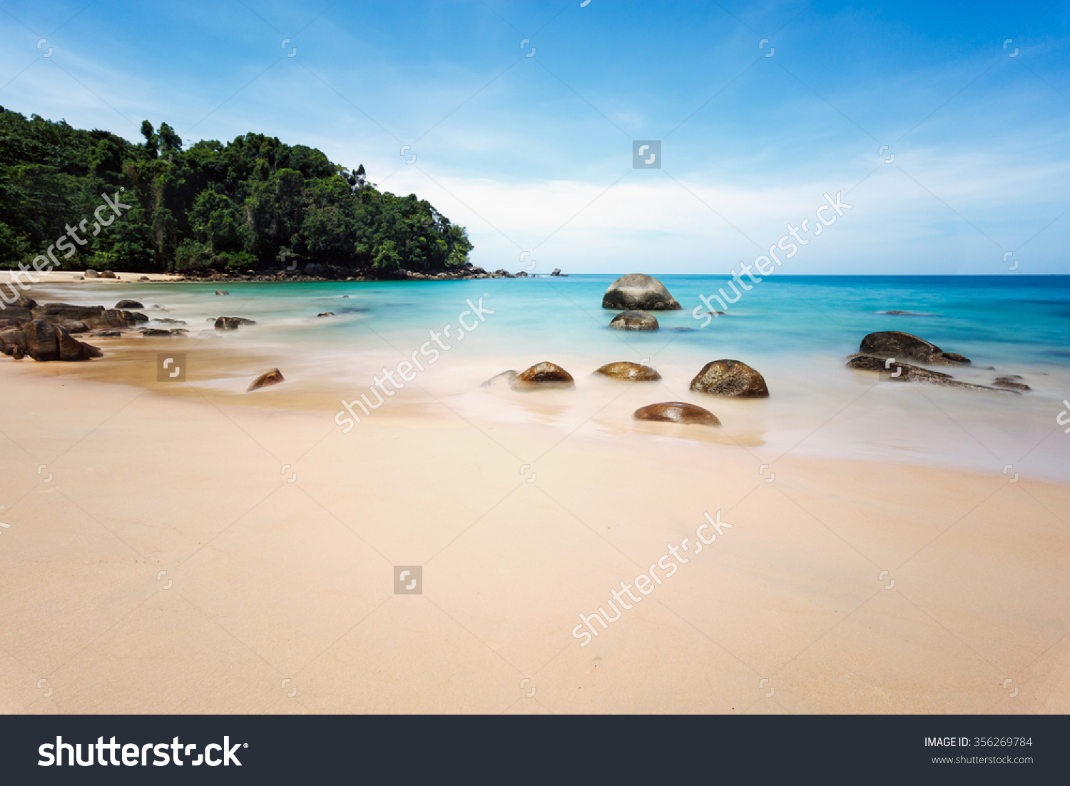 Small Sandy Beach Lam Ru Khao Stock Photo 356269784.