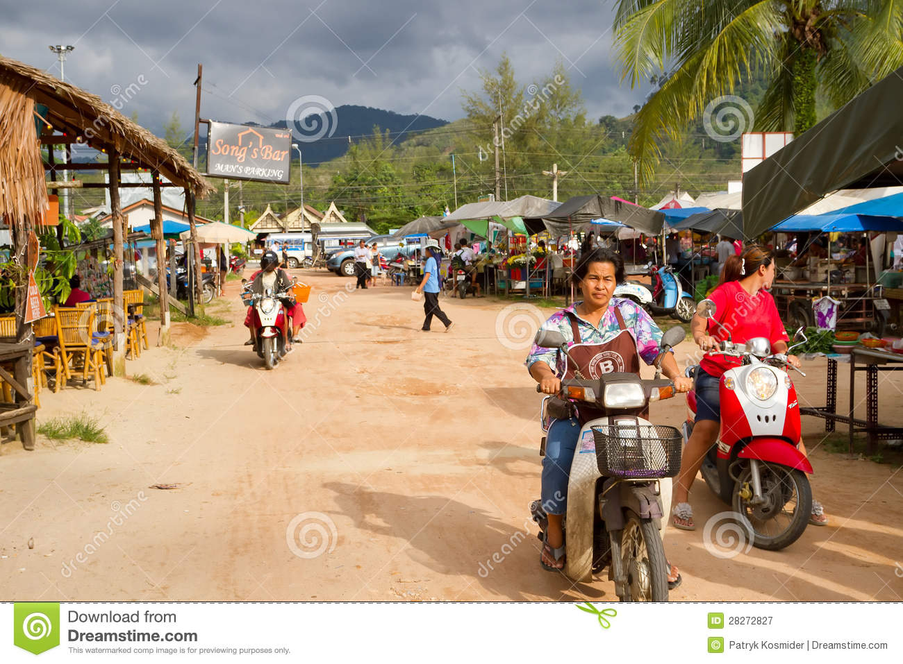 Local Market In Khao Lak, Thailand Editorial Photography.