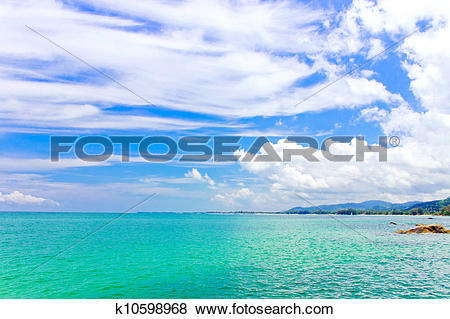 Pictures of Khao Lak and turquoise color of sea,Thailand k10598968.