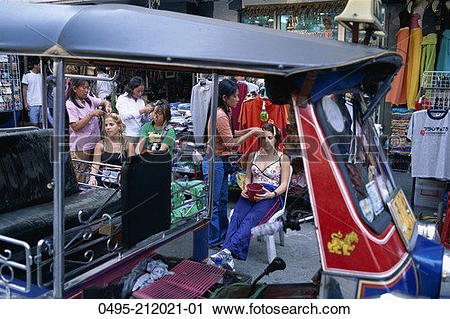 Stock Photography of Thailand, Bangkok, Khao San Road, Street.
