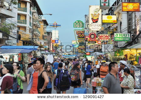 Khao San Road Stock Images, Royalty.