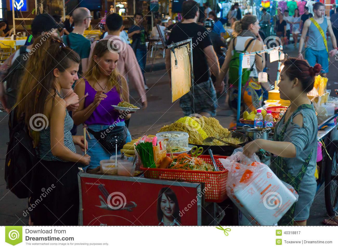 Khao San Road, Bangkok, Thailand Editorial Photography.