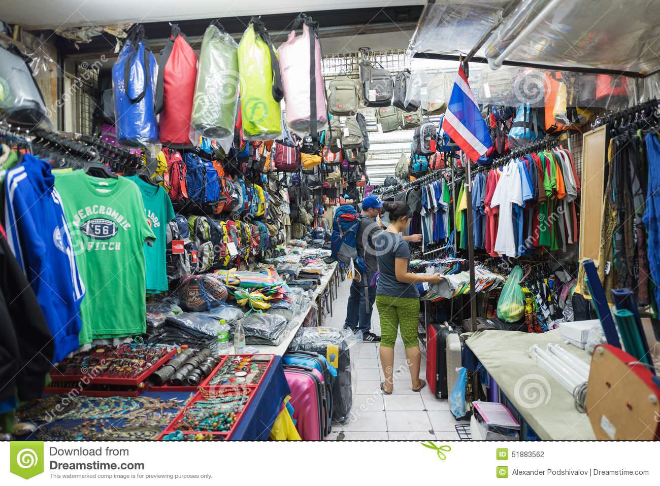 Bangkok, Thailand: Clothing On Khao San Road Editorial Image.