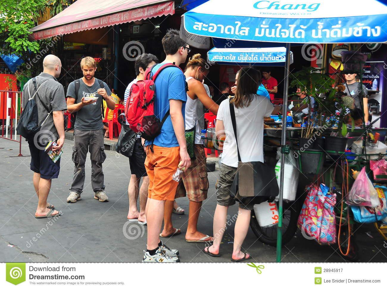 Bangkok, Thailand: People On Khao San Road Editorial Photography.