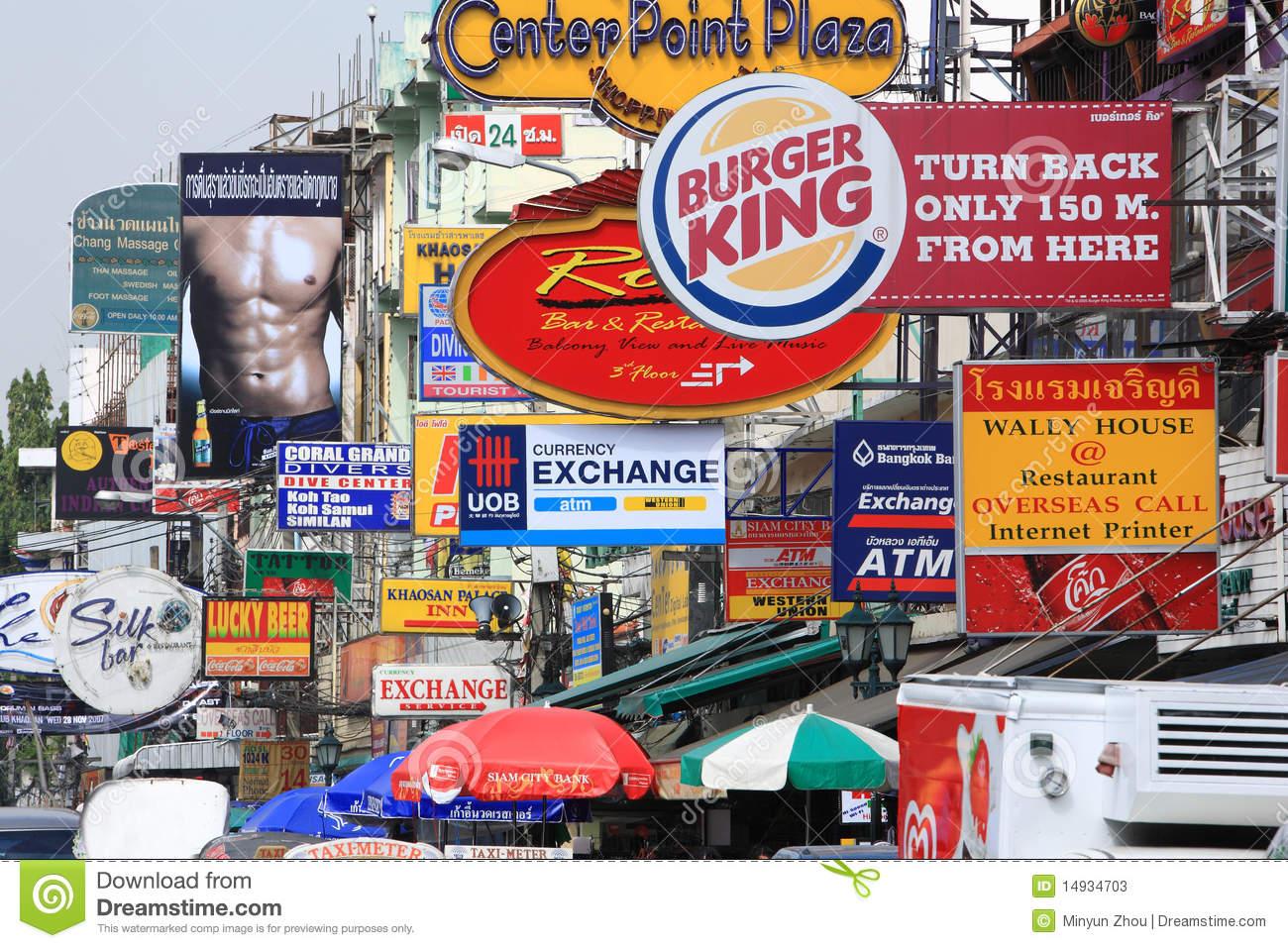 Khao San Road.Bangkok.thailand Editorial Stock Photo.