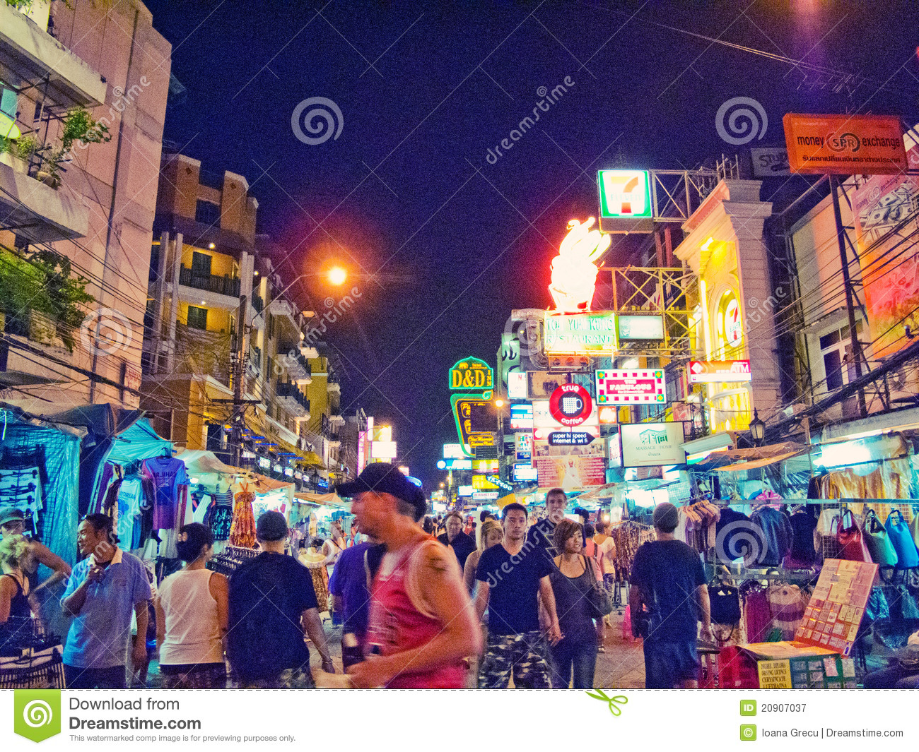 Khao San Road, Thailand Editorial Photography.