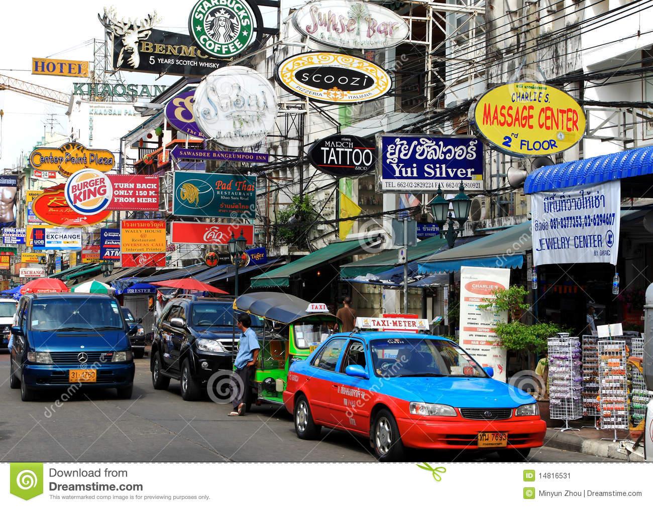 Khao San Road,Bangkok,Thailand Editorial Photo.
