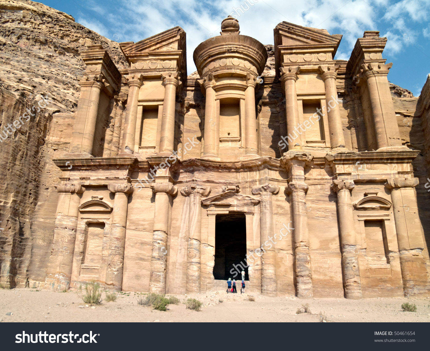 Petra Nabataeans Capital City Al Khazneh Stock Photo 50461654.