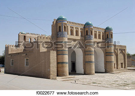 Picture of Uzbekistan, Khiva, Kosh Darvoza (north gate) f0022677.