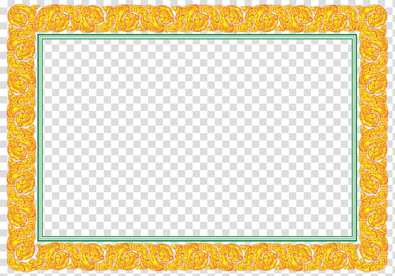 Rectangular yellow and green frame illustration, Cambodia.
