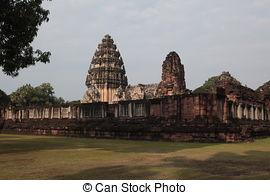 Stock Image of ASIA THAILAND ISAN KHORAT PHIMAI KHMER TEMPLE.