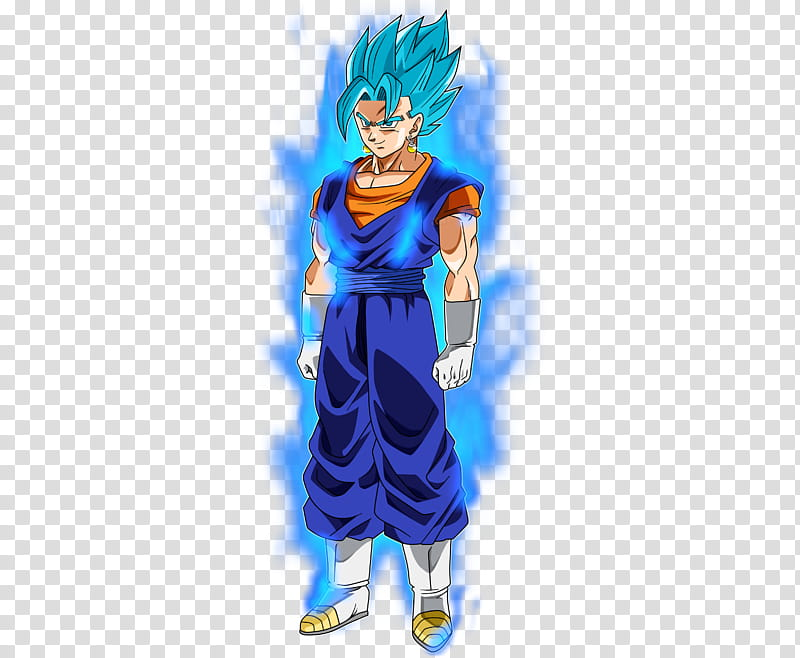 Vegeta SSJ Blue KI transparent background PNG clipart.