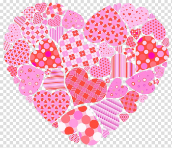 Pink flowers and heart illustration, Heart Rose Valentines.