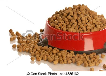 Stock Photo of full bowl of dog food.