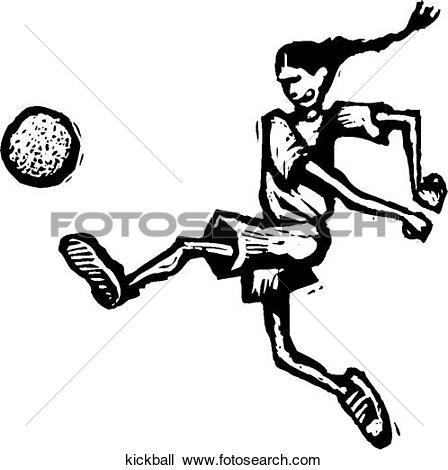 Kickball Clip Art Illustrations. 121 kickball clipart EPS vector.