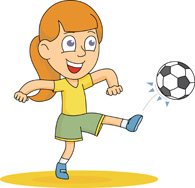 Kicking Soccer Ball Clipart.