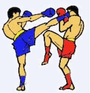 Kick boxing clipart images.