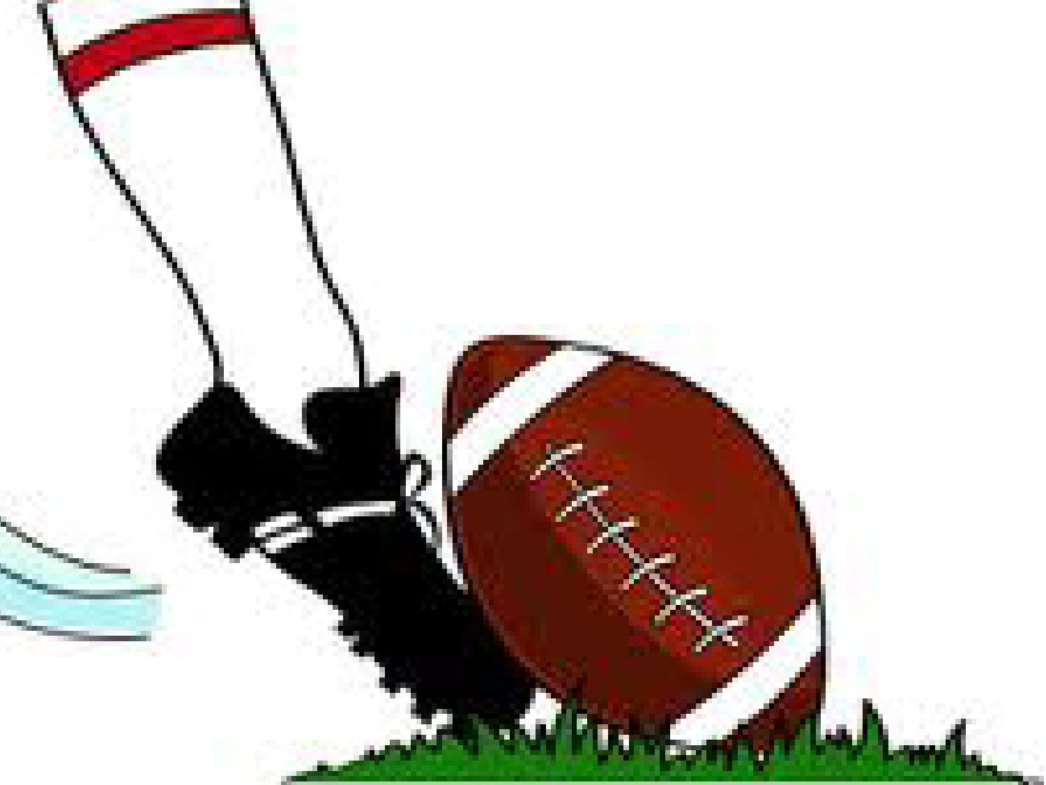 Football kick off clipart.