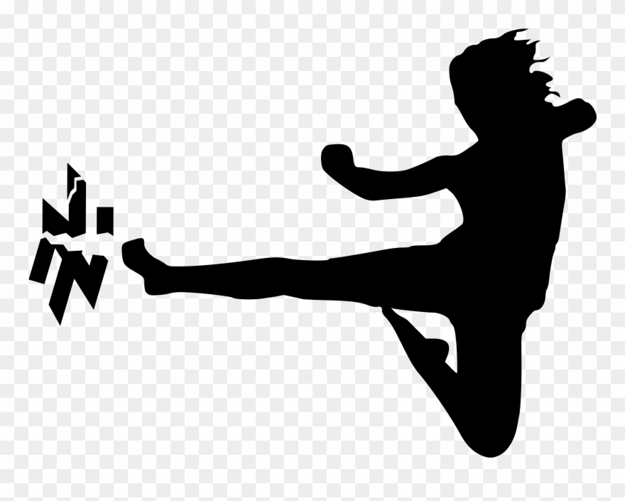Karate Kick Clipart.