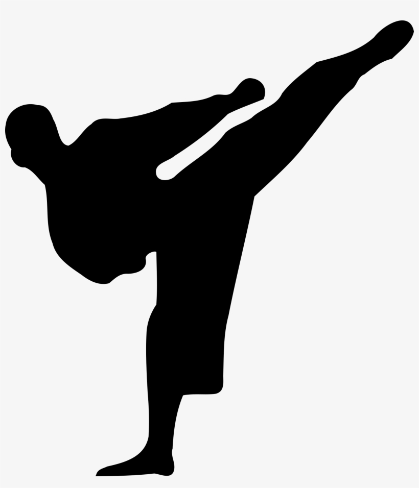 Free Vector Karate Silhouette.