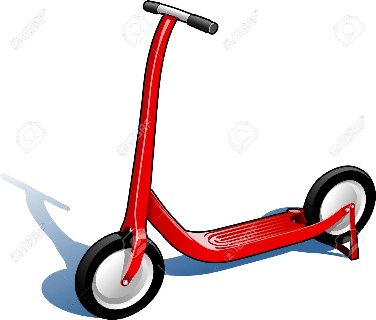 Red Scooter Royalty Free Cliparts, Vectors, And Stock Illustration.