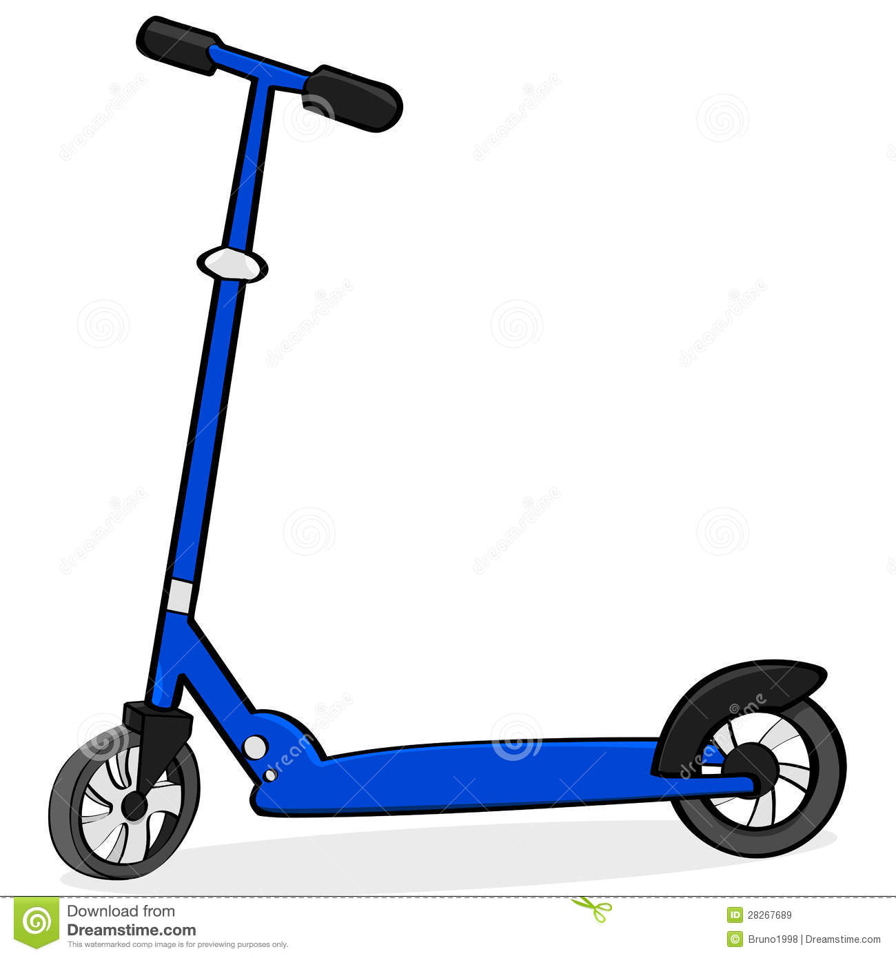 Cartoon Scooter Royalty Free Stock Images.
