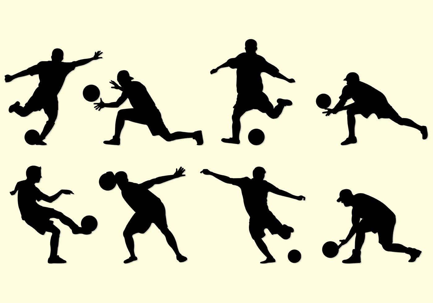 Kickball Silhouette Free Vector.