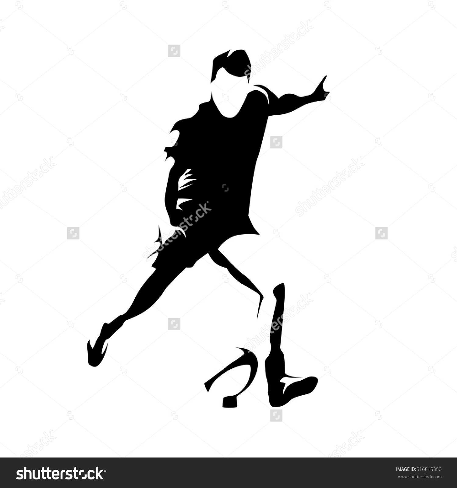 Rugby Player Kick Ball Abstract Vector Stock Vector 516815350.