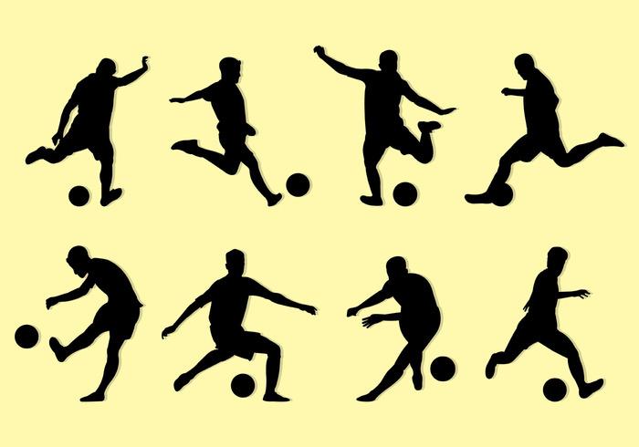 Silhouette Of Kickball Players.