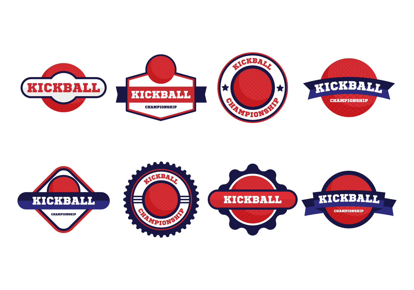 Kickball Free Vector Art.