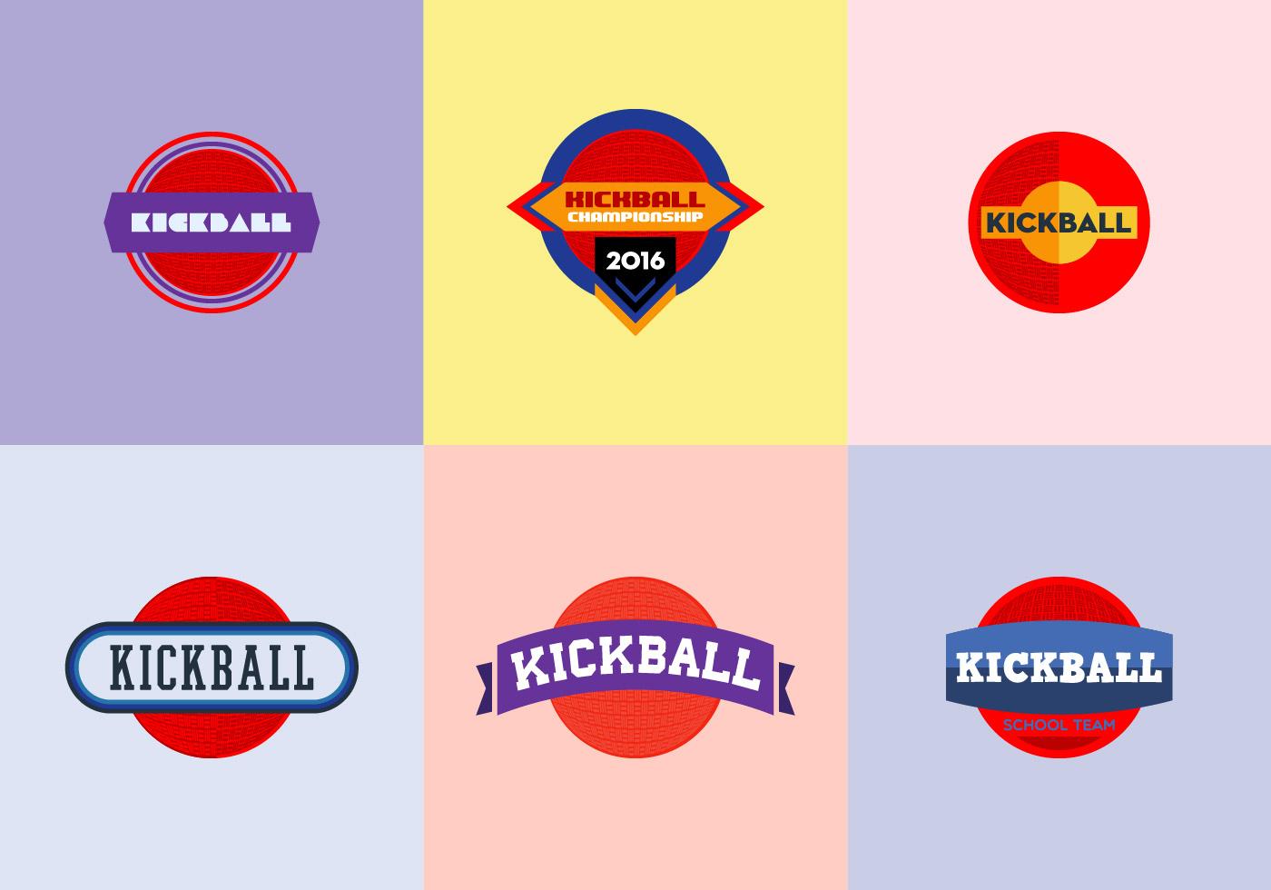 Free Kickball Icons Vector.