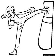 Kickboxing clip art free.