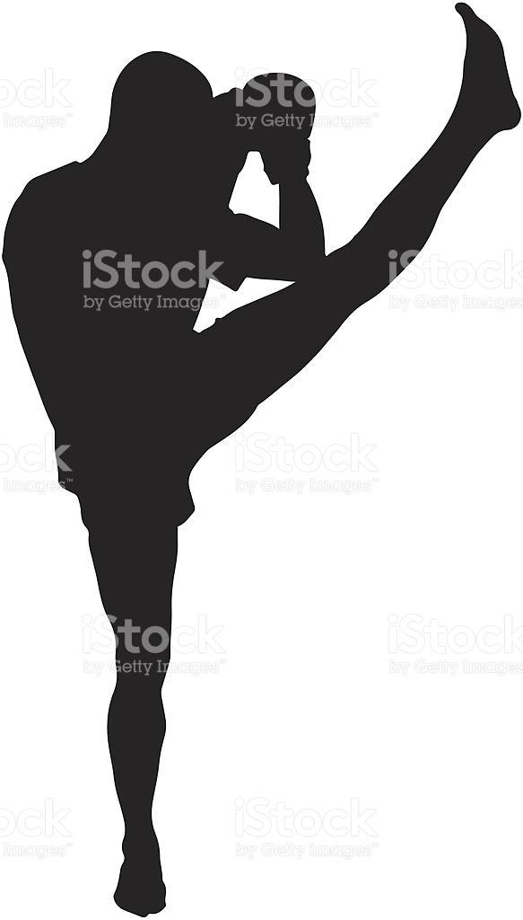 Kickboxing Silhouette stock vector art 176459527.