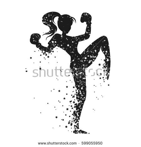 kickboxing clipart silhouette #2