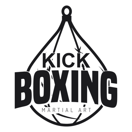 Boxing kickboxing fight logo badge label.