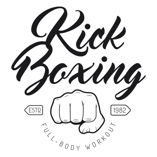 Boxing kickboxing fight logo emblem.