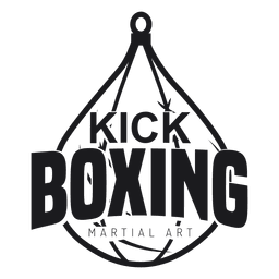 Kickboxing club logo.